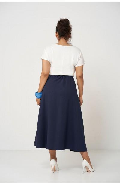 IDA NAVY długa spódnica na lato