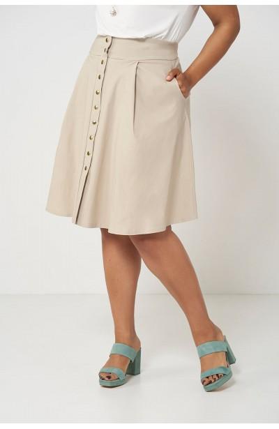 c3137f16957d66 SONJA SAND minimalistyczna spódnica plus size
