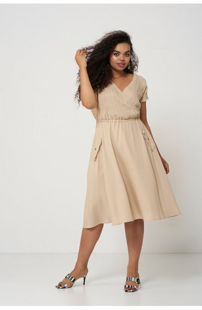 GAIA SAND lniana sukienka na lato