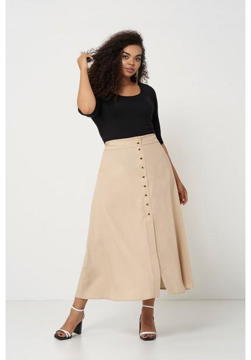 NOVA SAND lniana spódnica plus size na lato