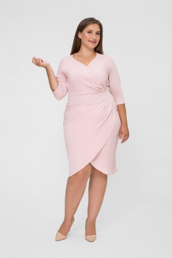 MONIQUE PEACH dopasowana sukienka plus size