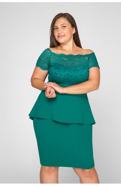 HELLEN GREEN elegancka sukienka plus size