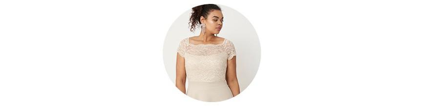 Modne sukienki dla puszystych plus size - Duże rozmiary XL, XXL