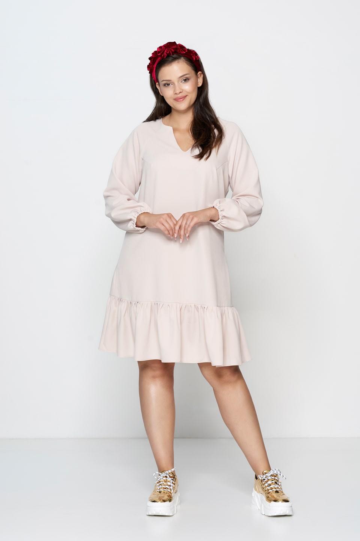 Biała sukienka koktajlowa plus size
