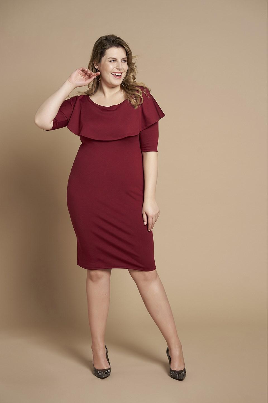 1b7d401b6f Dla kobiet plus size o pełniejszych kształtach i figurze zbliżonej do  klepsydry lub gruszki najlepsza na tę okazję będzie sukienka z baskinką lub  ...