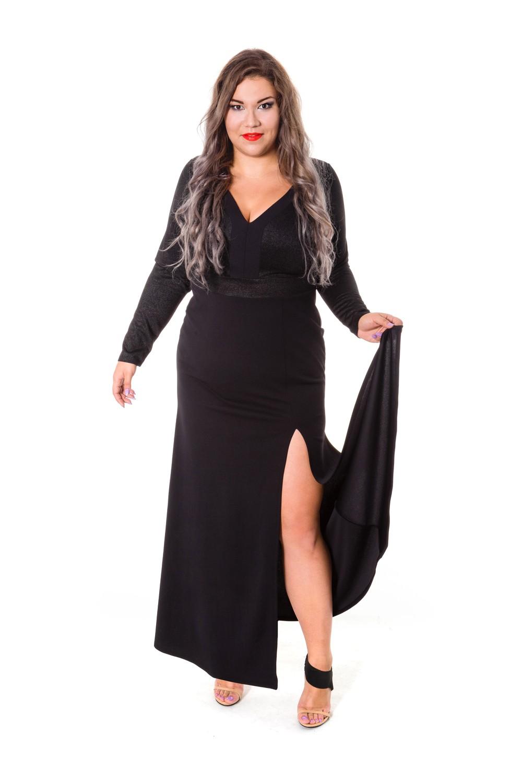 dc525df8ef Długa suknia wieczorowa w dużym rozmiarze - LANA - 20inlove