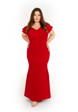e20da4a4ed Dobrym kolorem dla długiej sukienki plus size będzie również ciemny granat  lub klasyczna i bardzo elegancka czerń. Długie sukienki dla pań w rozmiarze  xxl ...