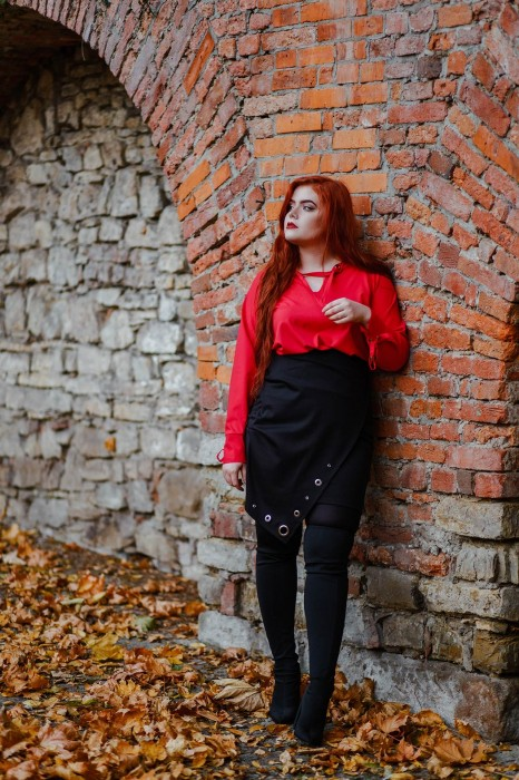 koszula MELODY + spódnica GINA BLACK